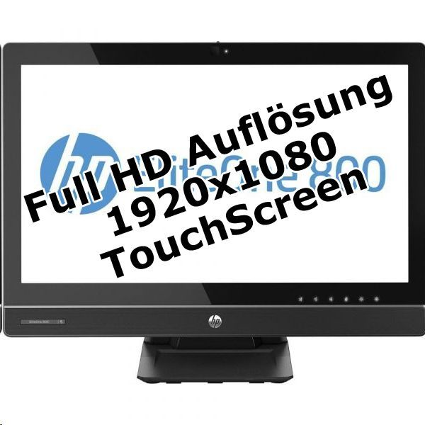 """HP EliteOne 800 G1 i7 4770 3,4GHz 8GB 128GB SSD 23"""" FHD Win 7 Pro Touch"""