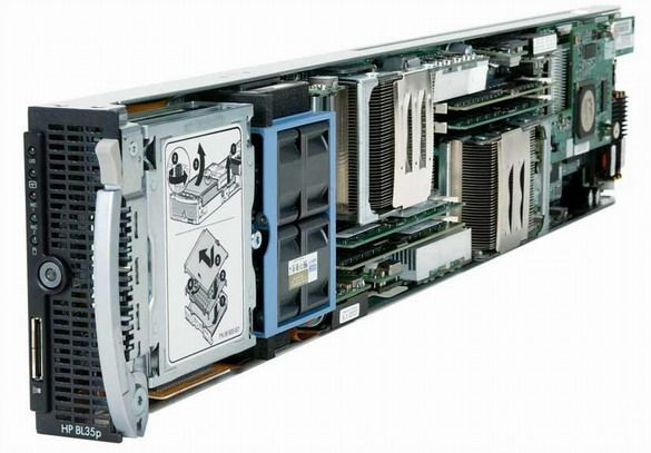 HP Proliant BL35p 2x AMD FX 64 Opteron 2200MHz 2048MB 2x PN:392446-B21