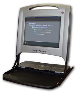 """Dell PowerEdge 15FP 15"""" 19"""" Rack Inkl.Tastatur Schwarz/Silber ohne Schienen"""