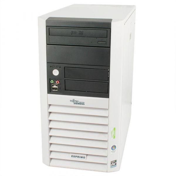 Fujitsu ESPRIMO P5615 AMD Athlon 2,5GHz 4GB 512GB SSD DVD-RW Win 10 Pro Midi tower