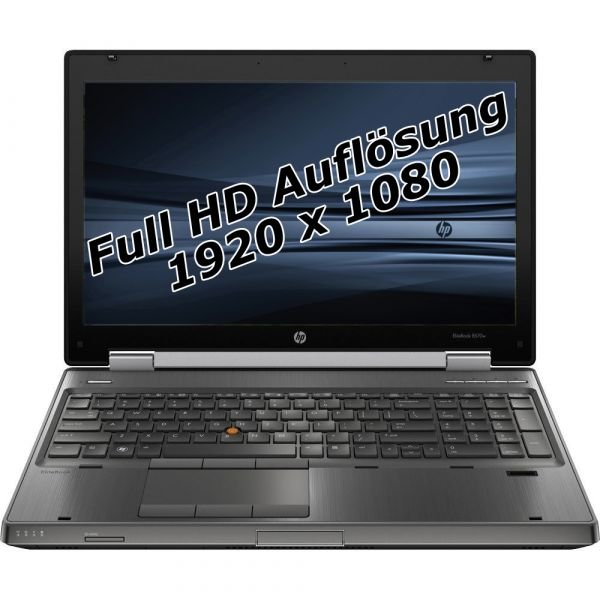 "HP Elitebook 8570w i7 3520m 2,9GHz 16GB 256GB SSD 15,6"" Win 10 Pro 1920x1080 Tasche"