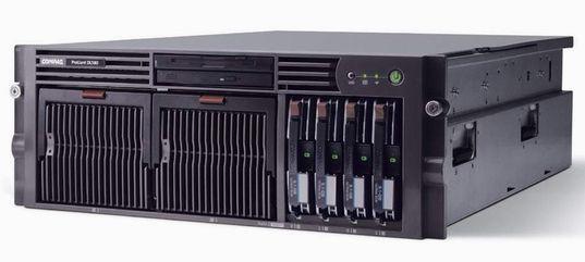 "Compaq Proliant DL580 G2 2x Intel Xeon 1600MHz 4096MB 2x 36 GB 2x 72 GB SCSi Slim CD 19"" Rack 4HE"
